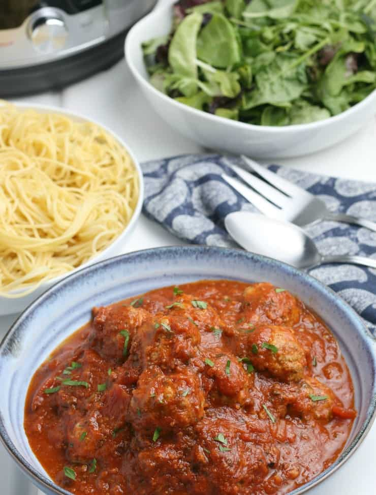 How to Make Frozen Meatballs in the Instant Pot with sauce in 15 minutes