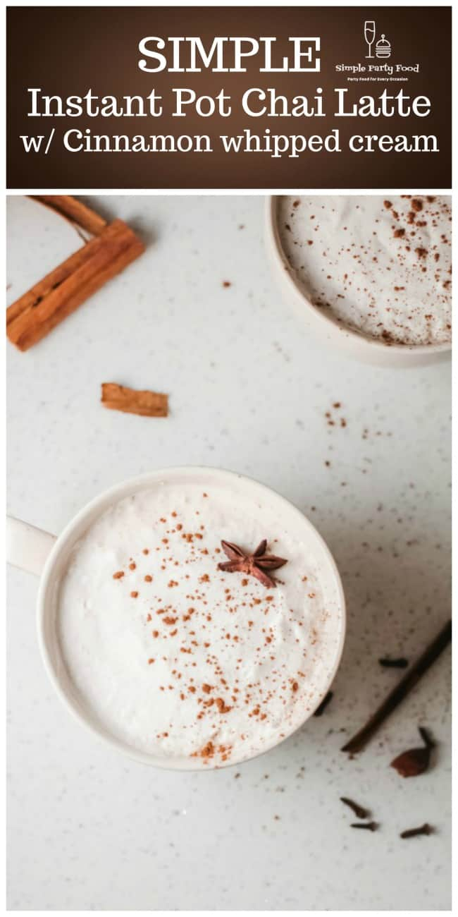 How to make Chai Latte in the Instant Pot