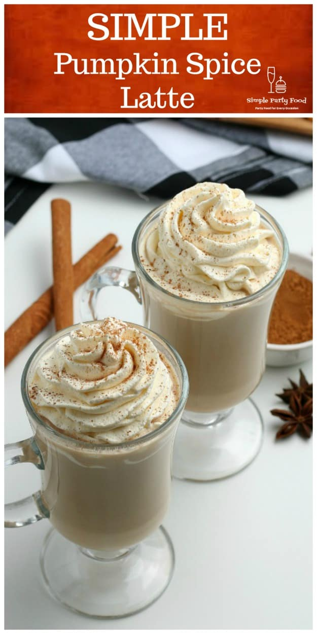 SIMPLE Pumpkin Spice Latte with our special pumpkin pie spices