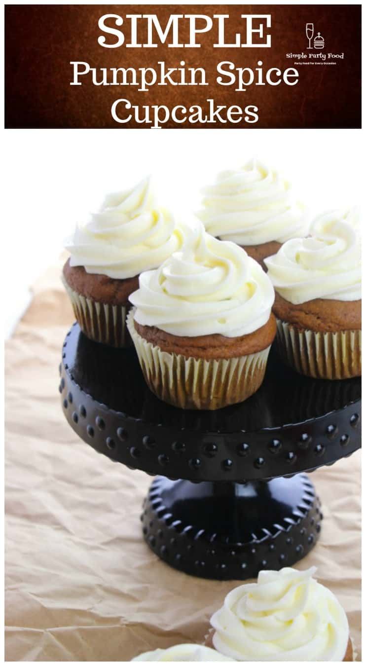Pumpkin Cupcakes with whipped cream cheese frosting