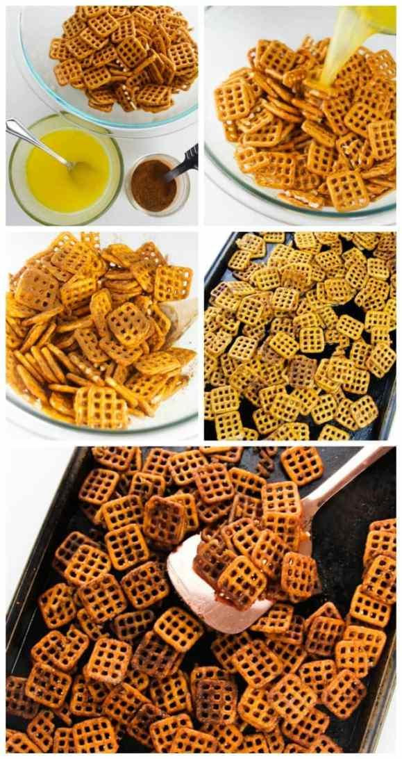 Pumpkin spiced pretzels