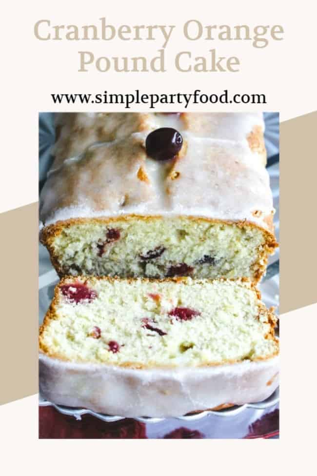 Cranberry Orange Pound Cake is a great Christmas morning breakfast idea. It can be made ahead of time and goes great with our mimosas! #christmasbreakfast