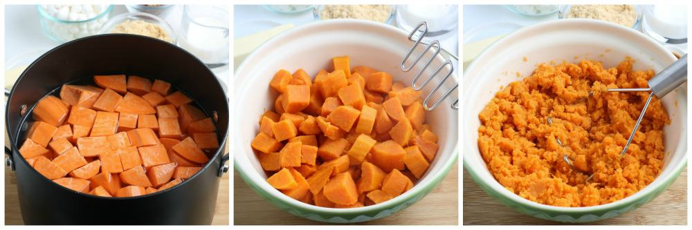 How to make Thanksgiving Sweet Potato Casserole step by step #thanksgivingsidedish #sweetpotatocasserole #Thanksgiving #easysidedish #simplepartyfood