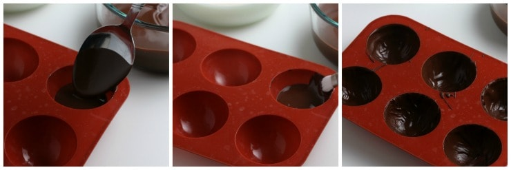 How to make Hot Cocoa Chocolate Bombs step by step #chocolatebombs #simplepartyfood