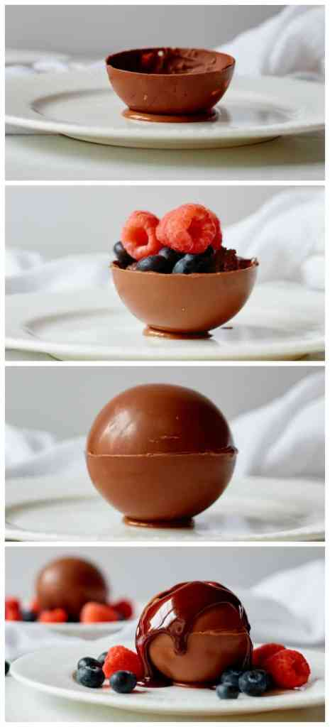 How to make a SIMPLE chocolate bomb step by step