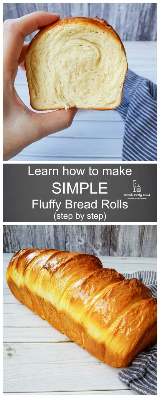 Learn how to make SIMPLE fluffy, light homemade bread rolls step by step #simplepartyfood #dinnerrolls #bread