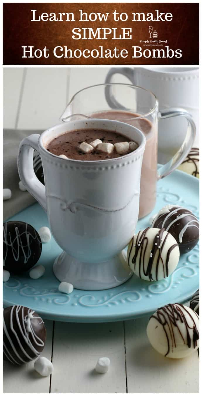 Learn to how make easy and simple chocolate bombs at home #simplepartyfood