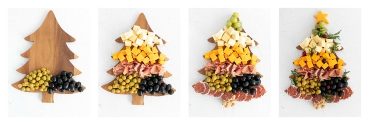 How to make aSIMPLE-Christmas-Tree-Cheese-Board