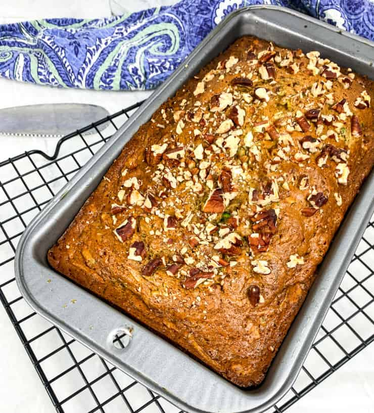 SIMPLE-Moist-Zucchini-Bread-with-Pecans is a great way to use up garden zucchini