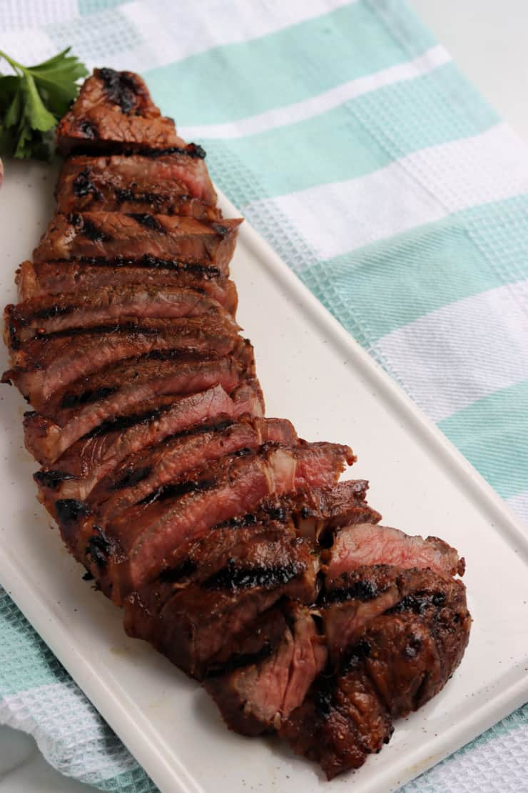 SIMPLE Grilled Steak Marinade - get ready for grilling season!