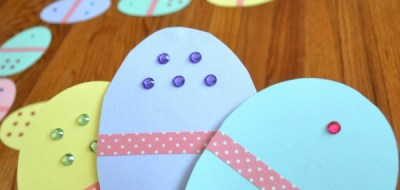 Easter Egg Dominoes: an easy Easter game to make yourself