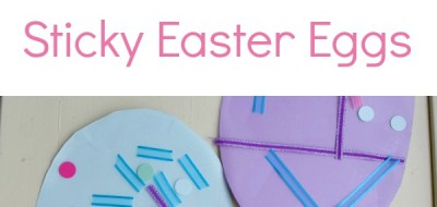 Sticky Easter Egg Craft - fine motor FUN!