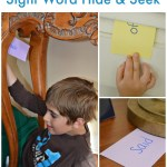 Sight Words Hide and Seek