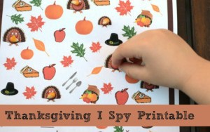 Thanksgiving I Spy Game – Free Printable