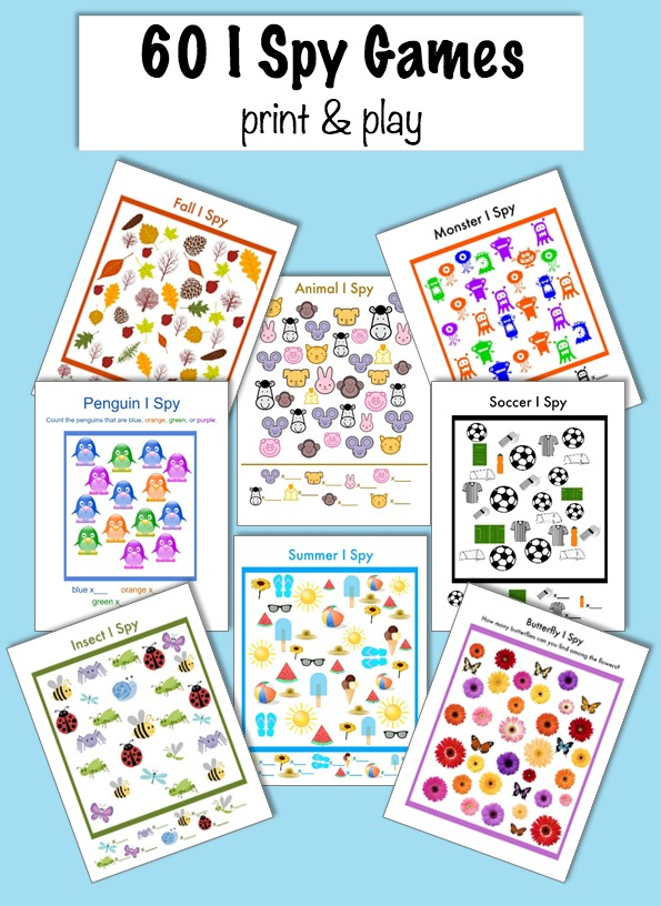 Monster image for i spy games printable