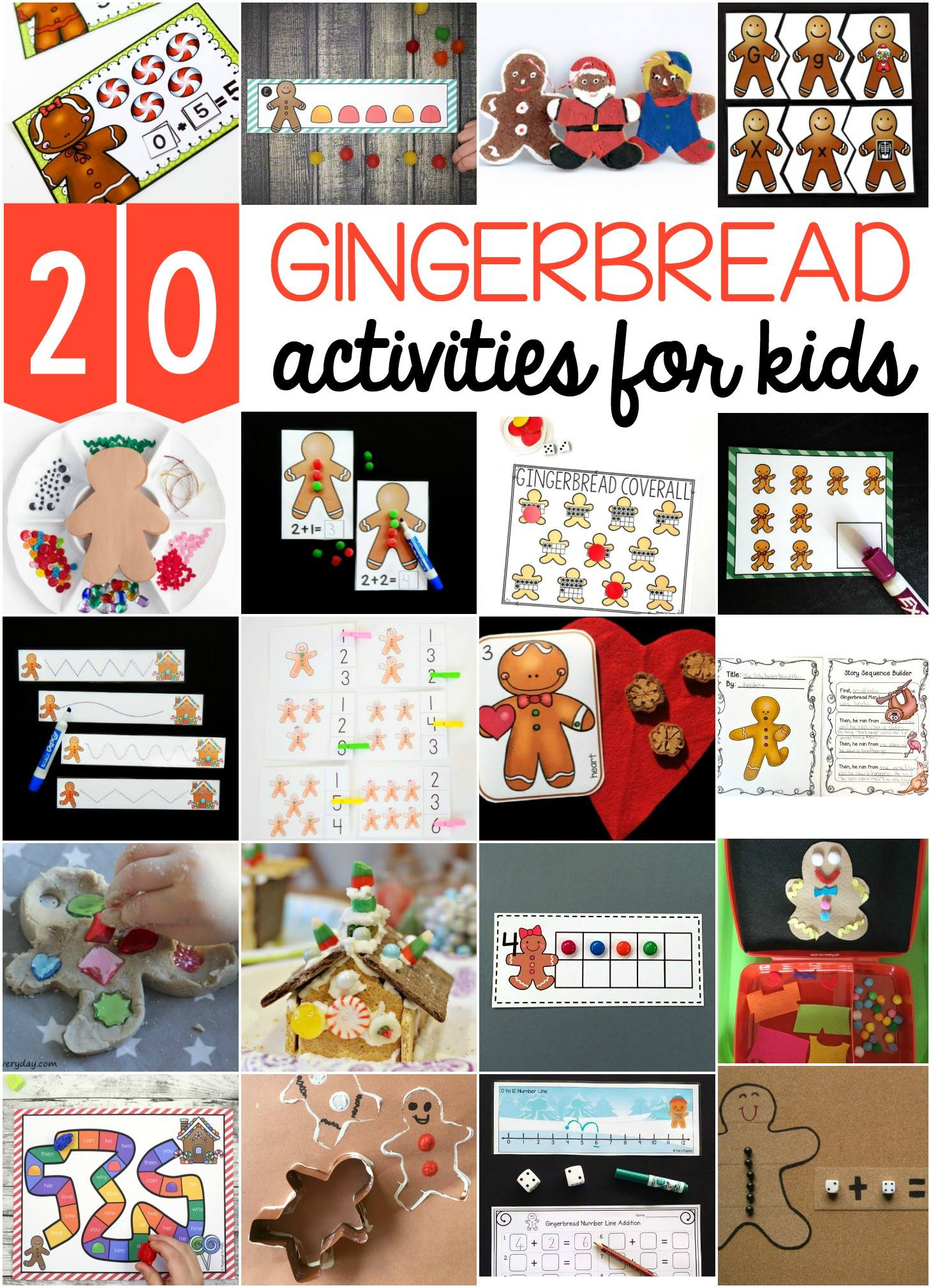 Awesome gingerbread activities for kids!