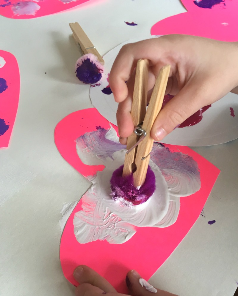 Simple heart craft - perfect for a toddler made Valentine!