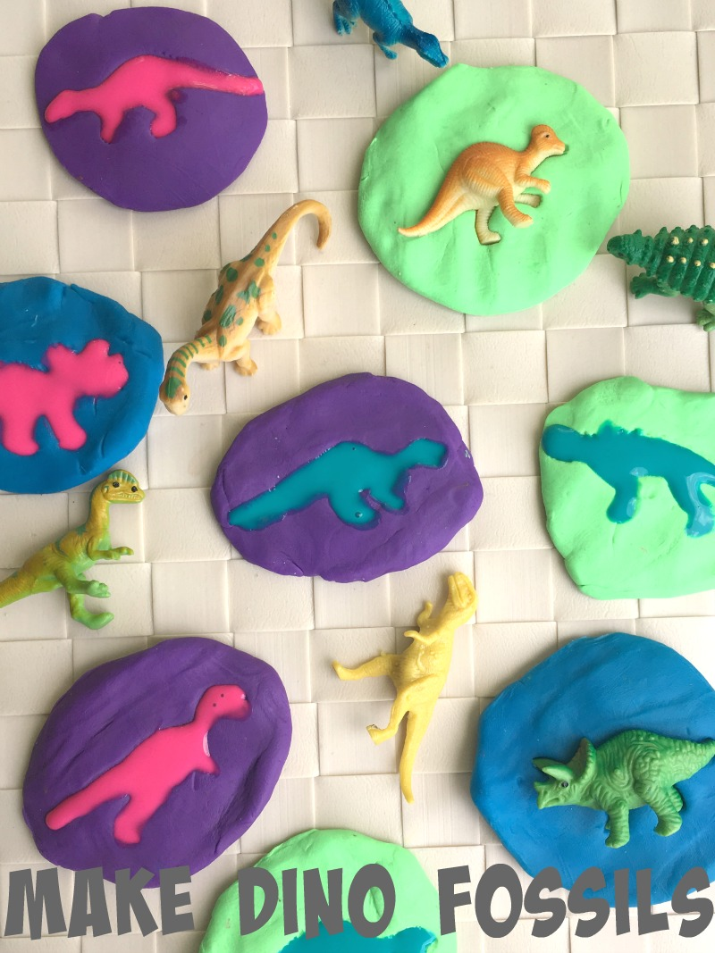 Try this fun afternoon activity - make your own dinosaur fossils!