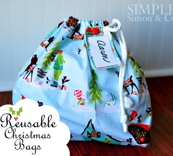 A Handmade Christmas: Reusable Christmas Bags