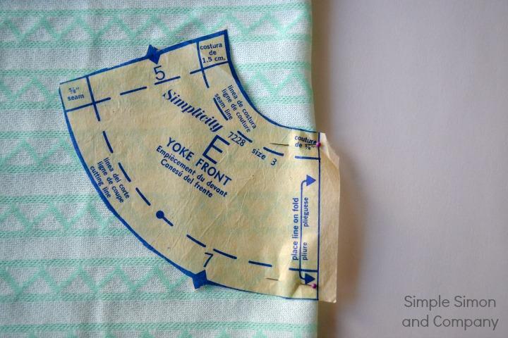 Pattern Piece on fold