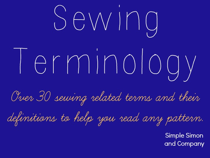 Sewing Terminology