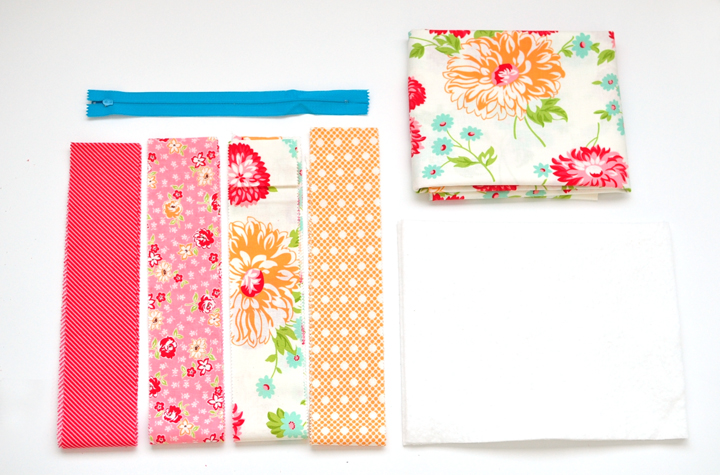 quilt-as-you-go zipper pouch supplies