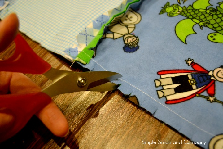 Rag Square Baby Quilt Step 7