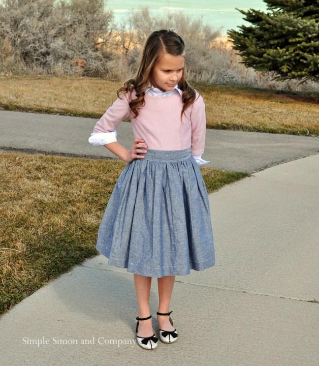 chambray spring skirt
