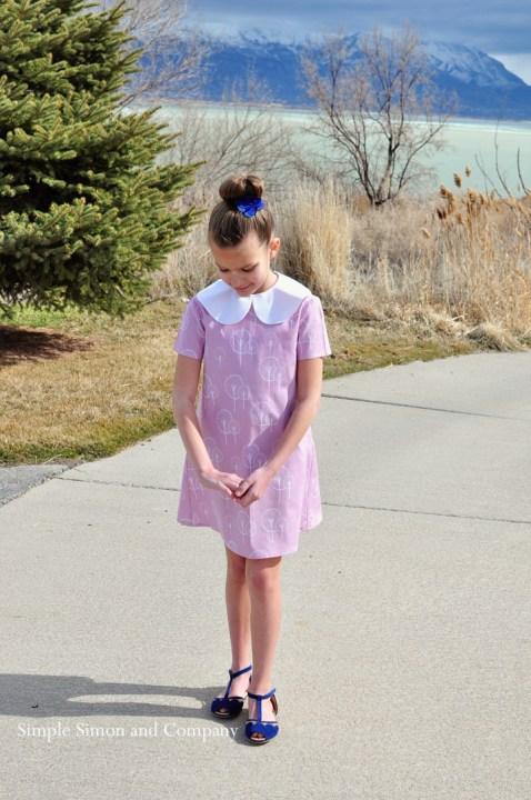 voilet and vintage dress 2