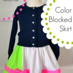 Color Blocked Skirt Tutorial (Super EASY!)