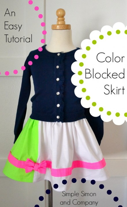 Color Blocked Skirt Tutorial (Super EASY!)
