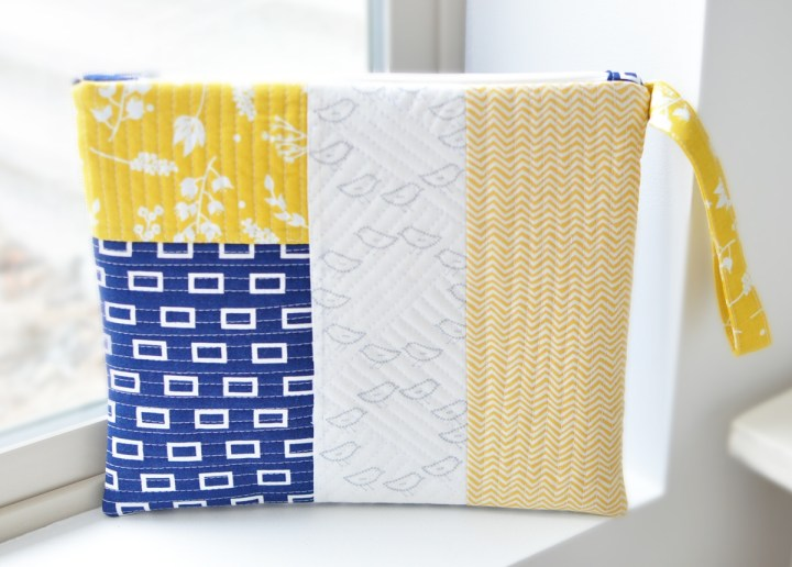 Simple Simon and Company quilted zipper pouch
