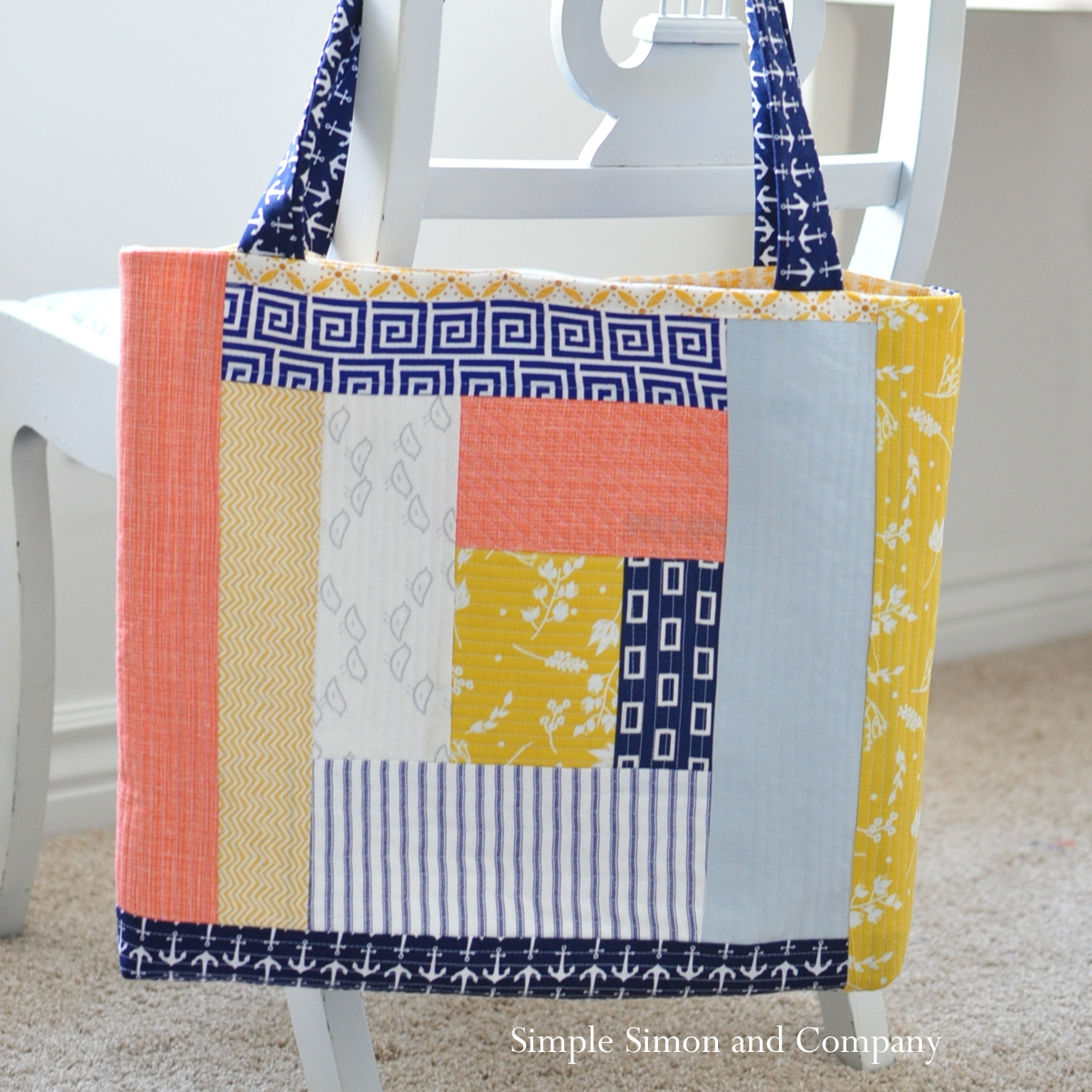 Quilt-as-you-go Tote Bag - Simple Simon and Company : quilt as you go tote - Adamdwight.com