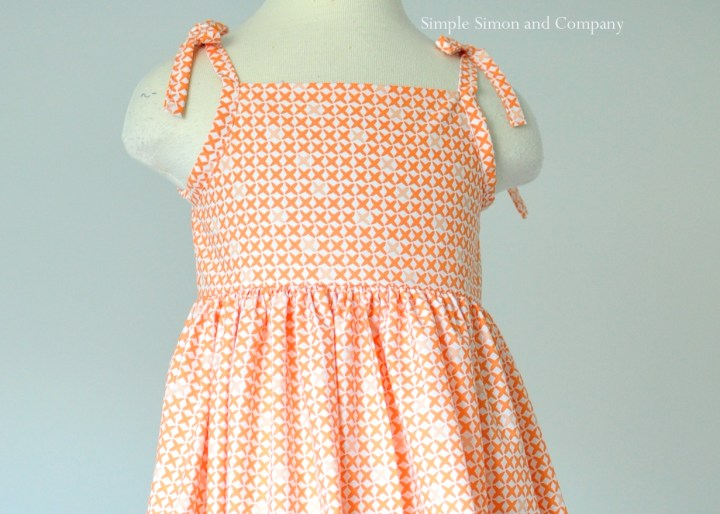 orange sundress bodice free pattern
