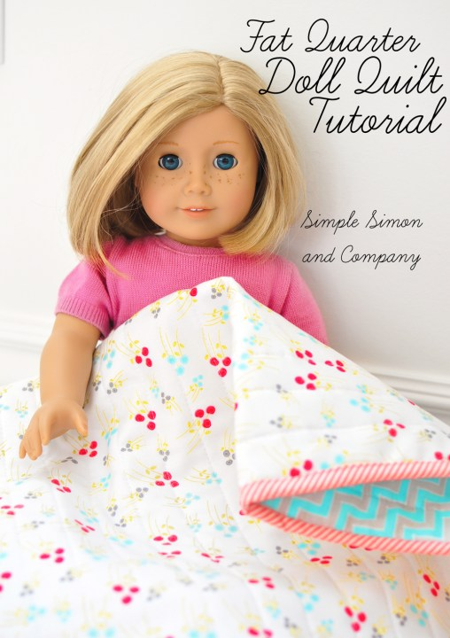fat quarter doll quilt