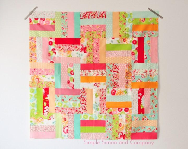 jellyroll scrap quilt