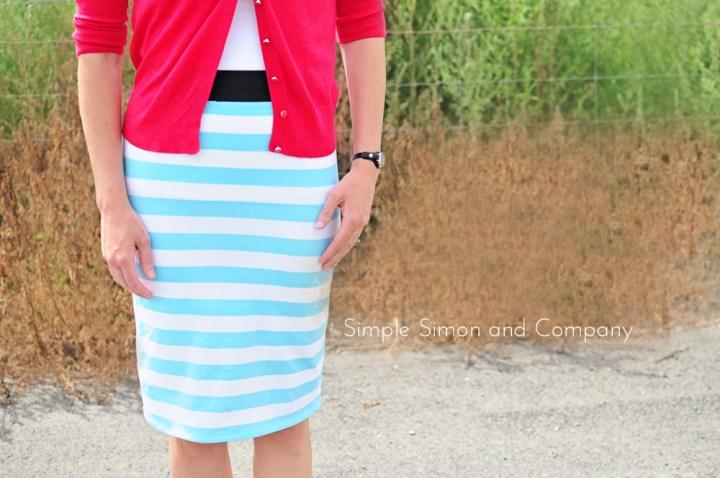 knit pencil skirt-end shot