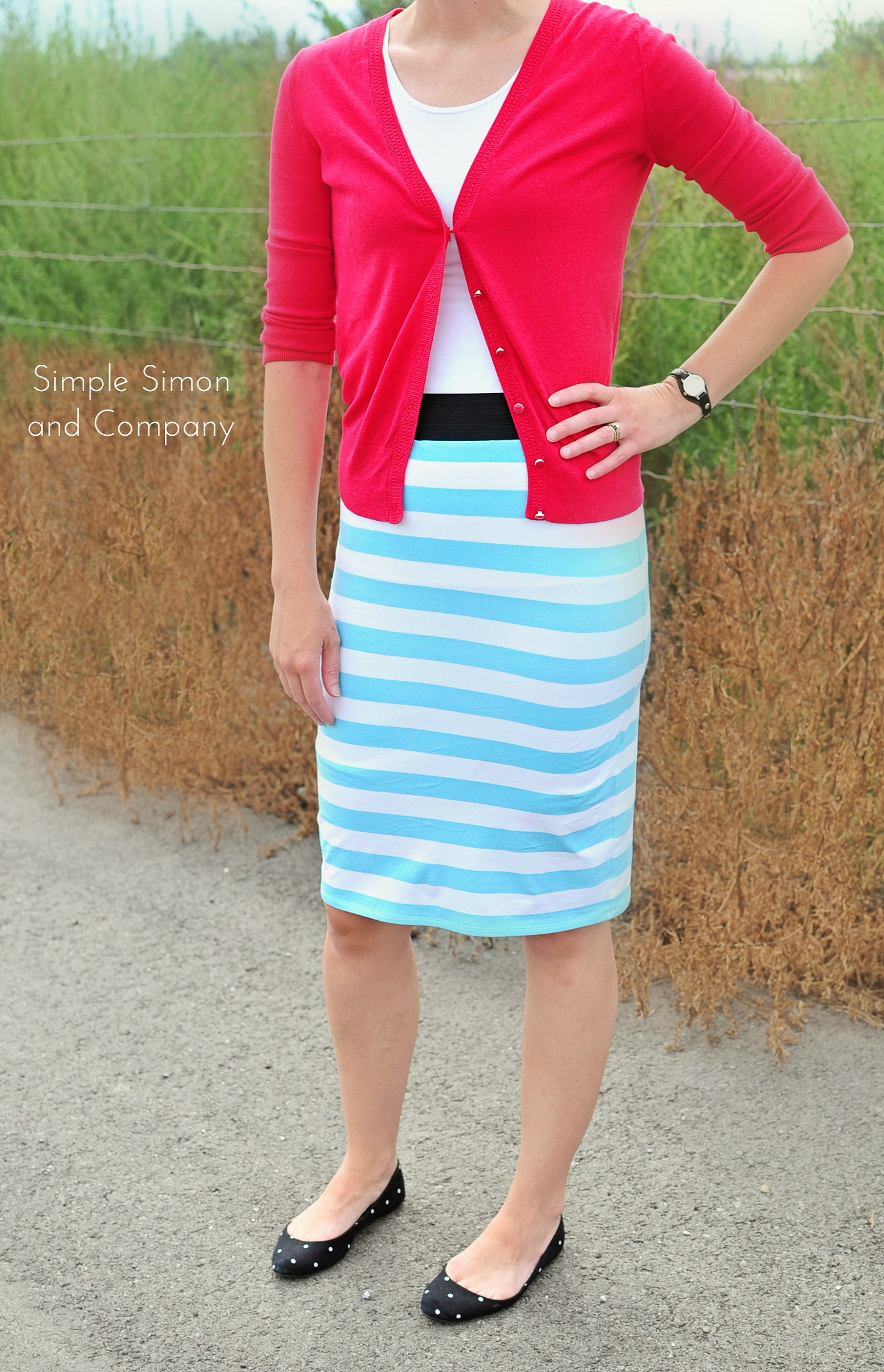 Easy Knit Skirt Tutorial - Simple Simon and Company