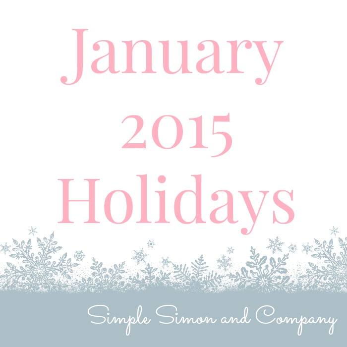 January 2015 Holidays