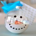 Melted Snowman Ornament Tutorial