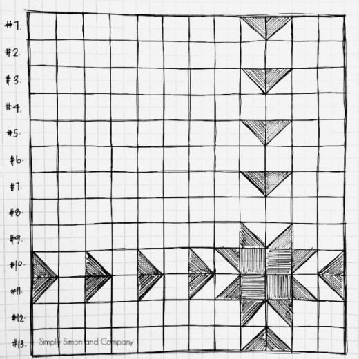 Sawtooth Sunburst Quilt Pattern Resized