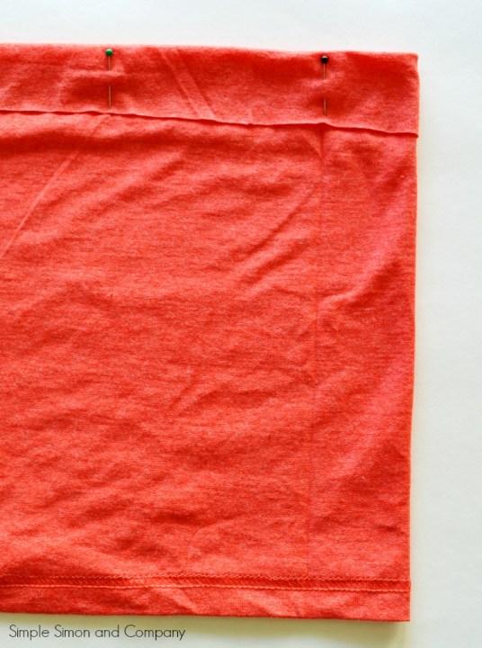 Tshirt Skirt Tutorial Step 2