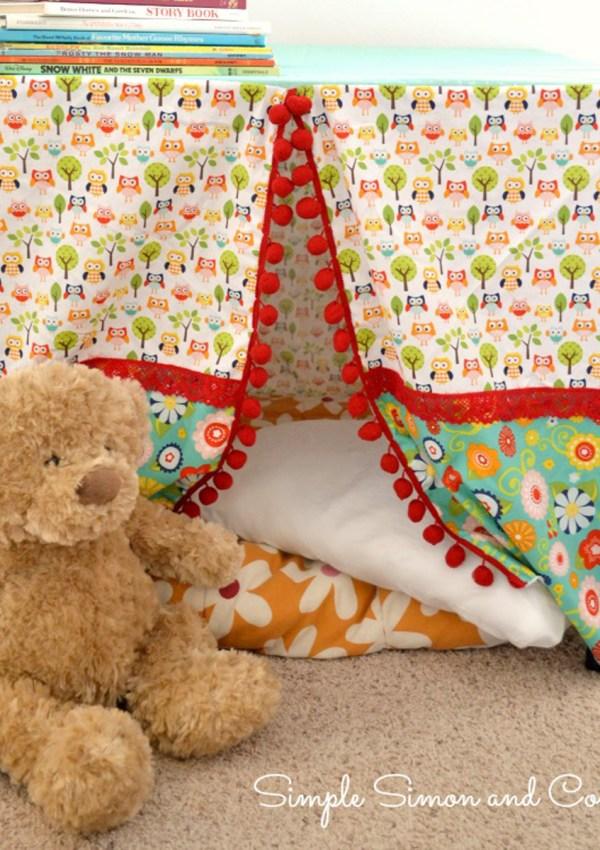 Easy Fabric Playhouse Tutorial