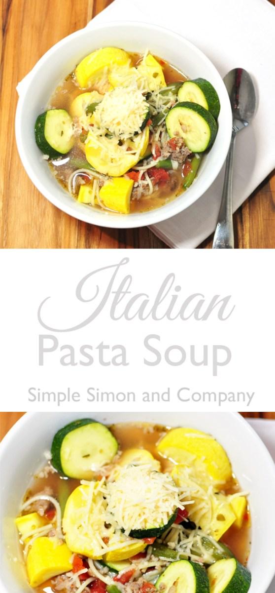 italian pasta soup pinnable