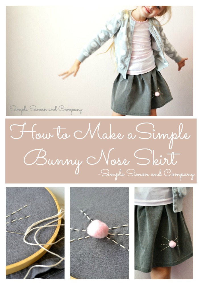 Bunny Nose Skirt Collage