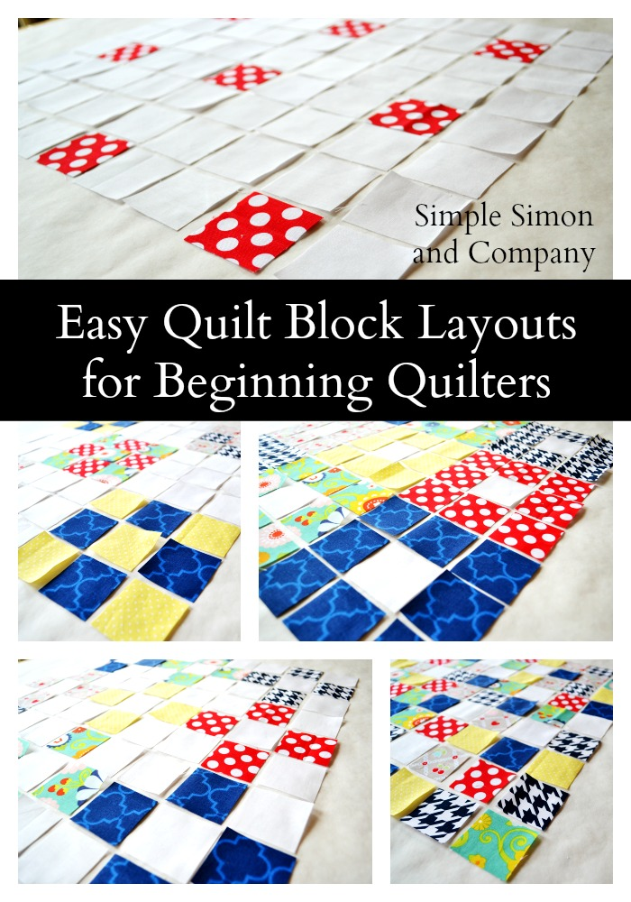 Easy Quilt Layouts For Beginning Quilters Simple Simon
