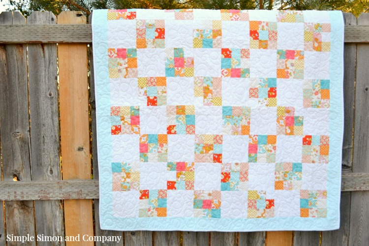 Nine Patch Quilt on Fence
