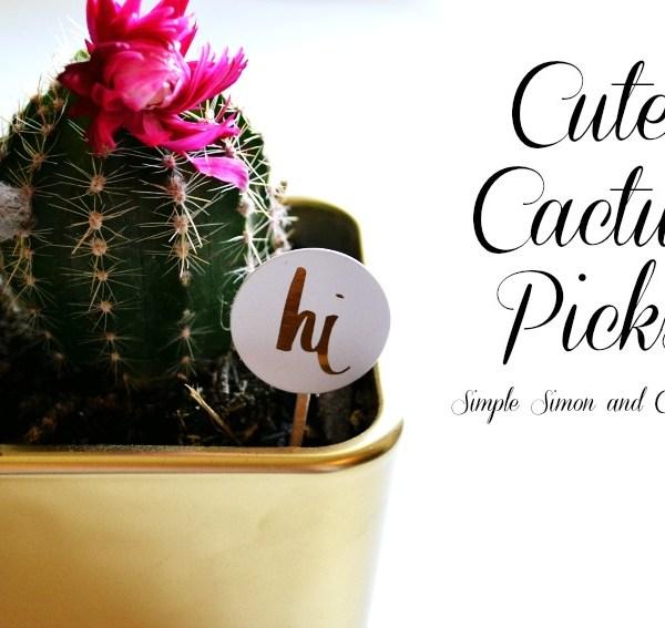 Cute Cactus Picks