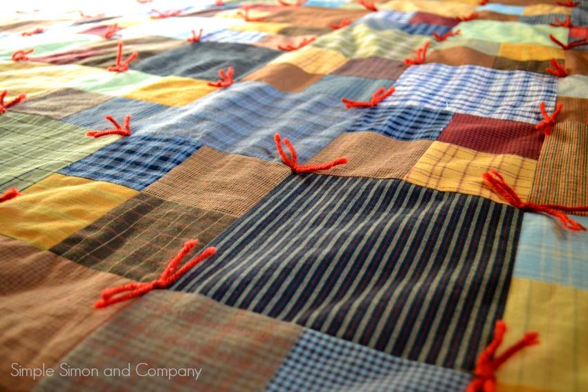 Flannel Squares Quilt Detail Color