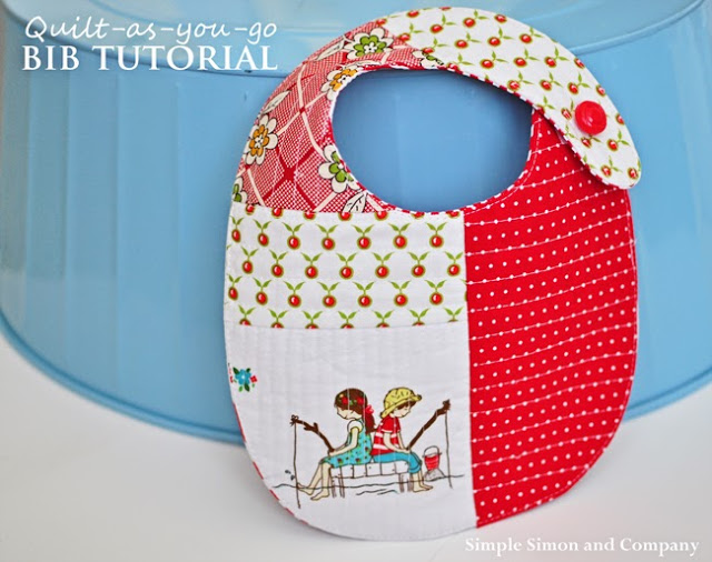 quilt as you go baby bib tutorial---simplesimonandco